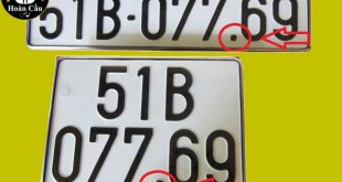 Tại sao biến số xe 5 số lại có dấu chấm ở hàng thứ 3?