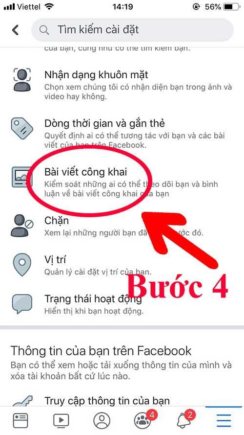 Cách bật chế độ theo dõi trên facebook bằng điện thoại