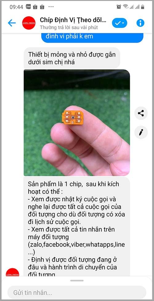 Dịch vụ đọc tin nhắn Zalo Facebook lừa đảo