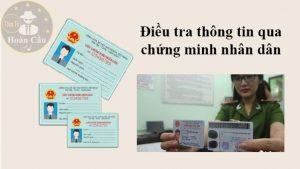 điều tra, tra cứu số chứng minh nhân dân CMND thẻ căn cước