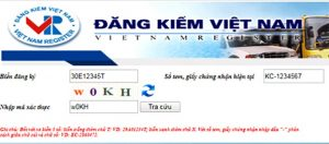 Cục đăng kiểm Việt Nam tra cứu biển số xe phạt nguội online