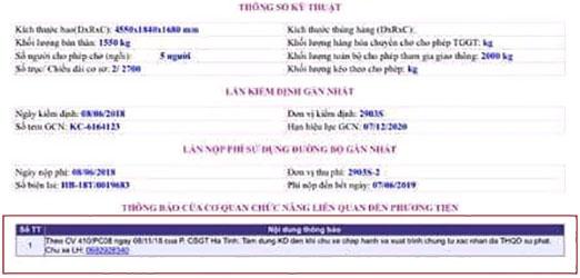 cục đăng kiểm việt nam tra cứu phạt nguội online