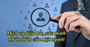 Bảng giá dịch vụ xác minh nhân thân, điều tra lý lịch tiền án tiền sự