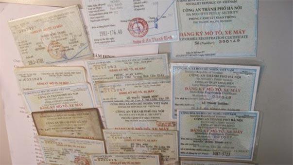 Dịch vụ làm lại cà vẹt giấy tờ xe máy ô tô bị mất không chính chủ