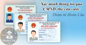 Dịch vụ điều tra xác minh thông tin chứng minh thư CMND thẻ căn cước
