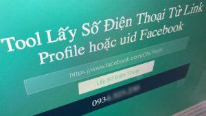 Tool lấy số điện thoại từ link profile hoặc uid Facebook người khác