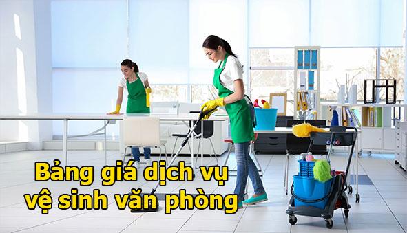 Bảng giá dịch vụ vệ sinh văn phòng theo giờ tại TPHCM Hà Nội