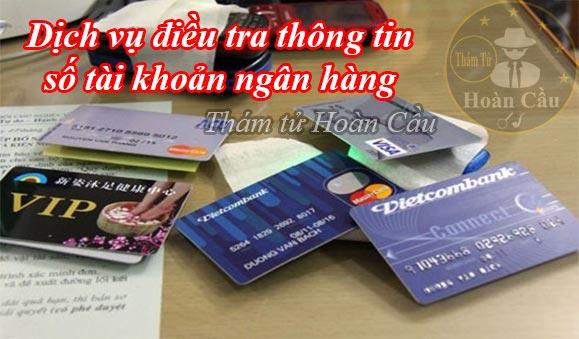 Dịch vụ tìm thông tin người qua số tài khoản ngân hàng uy tín