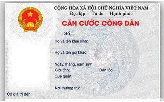 tra cứu thông tin cá nhân từ CMND, thẻ căn cước